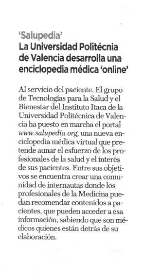 Prensa salupedia tu enciclopedia de la salud for Universidad de valencia online