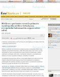 Captura de El Economista : Médicos y pacientes crean la primera enciclopedia médica virtual para recomendar información segura sobre salud
