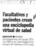 Captura de Facultativos y pacientes crean una enciclopedia virtual de salud
