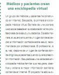 Captura de Dinero y Salud: Médicos y pacientes crean una enciclopedia virtual