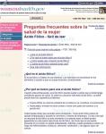Captura de http://www.womenshealth.gov/espanol/preguntas/folic.cfm