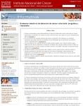 Captura de http://www.cancer.gov/espanol/cancer/hojas-informativas/examenes-colorrectal-respuestas