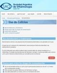 Captura de http://www.sao.org.ar/index.php/informacion-para-pacientes/uso-de-colirios
