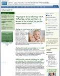 Captura de http://www.cdc.gov/h1n1flu/espanol/lactancia.htm